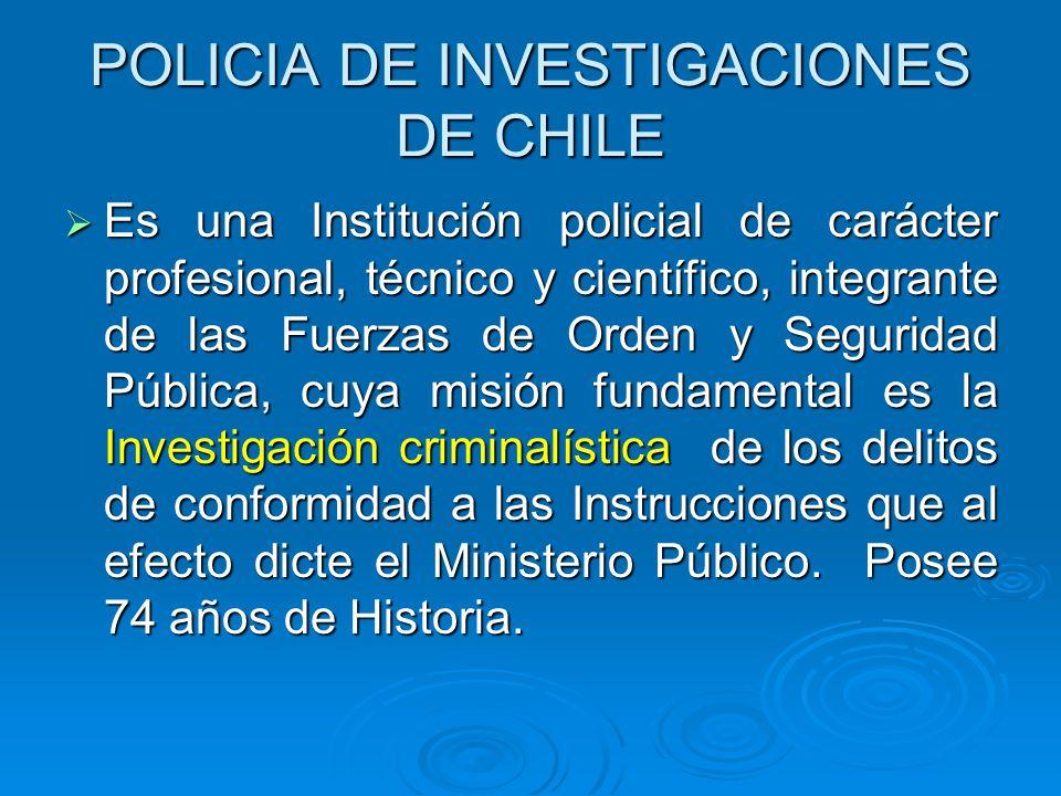 POLICIA DE INVESTIGACIONES DE CHILE