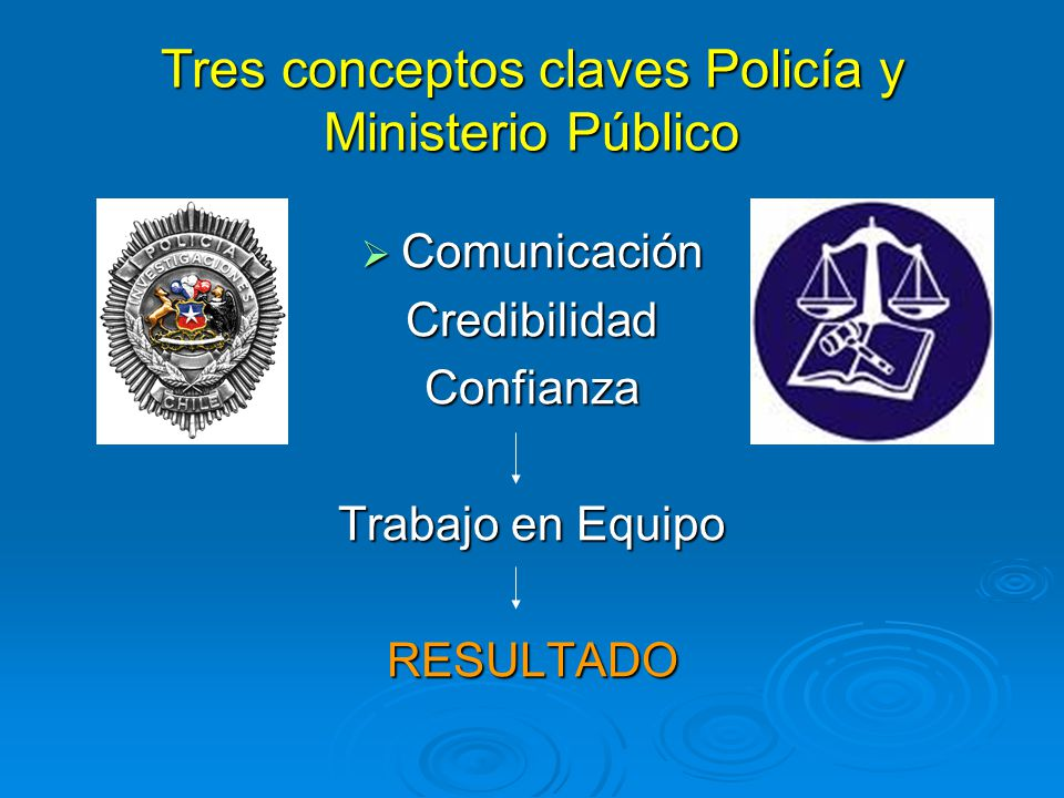 Tres conceptos claves Policía y Ministerio Público