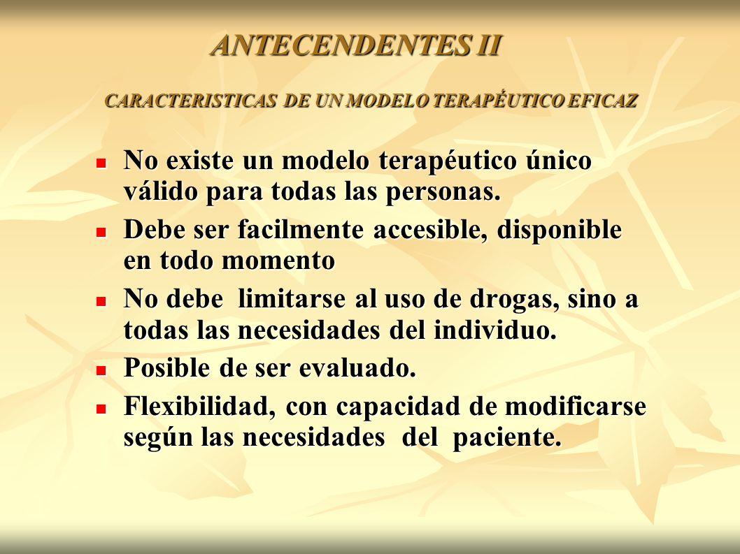 CARACTERISTICAS DE UN MODELO TERAPÉUTICO EFICAZ