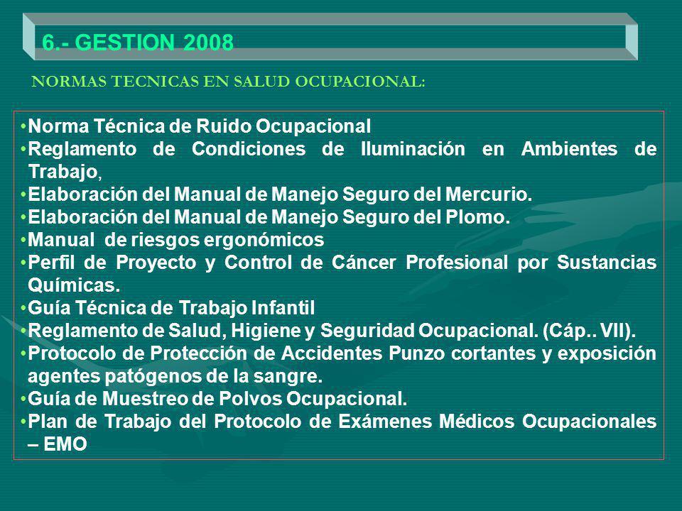 6.- GESTION 2008 Norma Técnica de Ruido Ocupacional