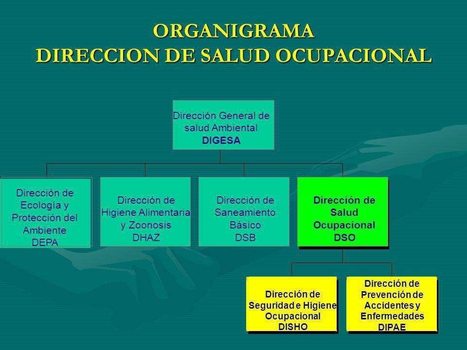 ORGANIGRAMA DIRECCION DE SALUD OCUPACIONAL