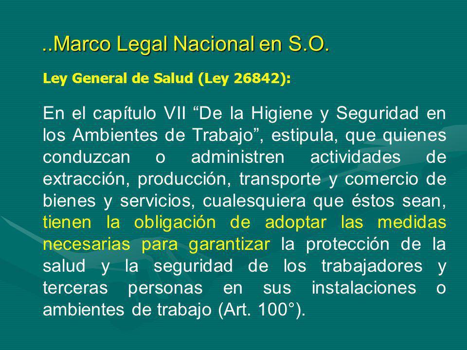 ..Marco Legal Nacional en S.O.