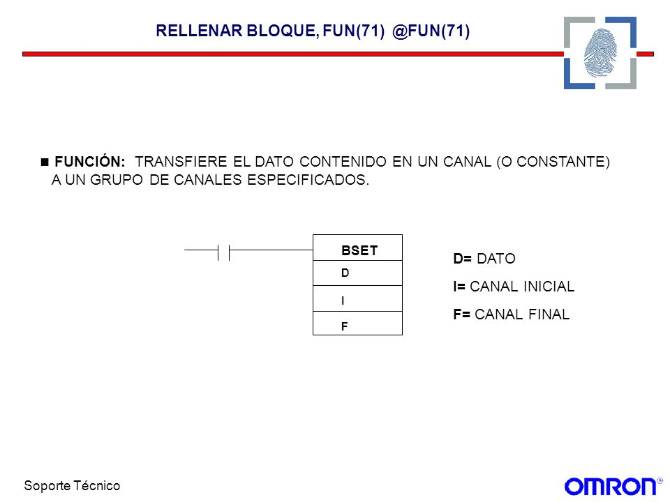RELLENAR BLOQUE, FUN(71) @FUN(71)