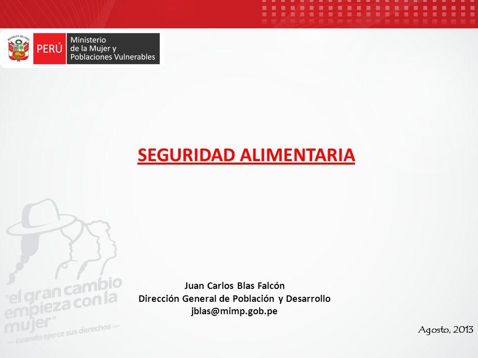 Juan Carlos Blas Falcón Dirección General de Población y Desarrollo