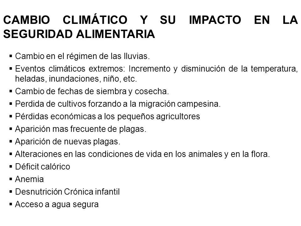 CAMBIO CLIMÁTICO Y SU IMPACTO EN LA SEGURIDAD ALIMENTARIA