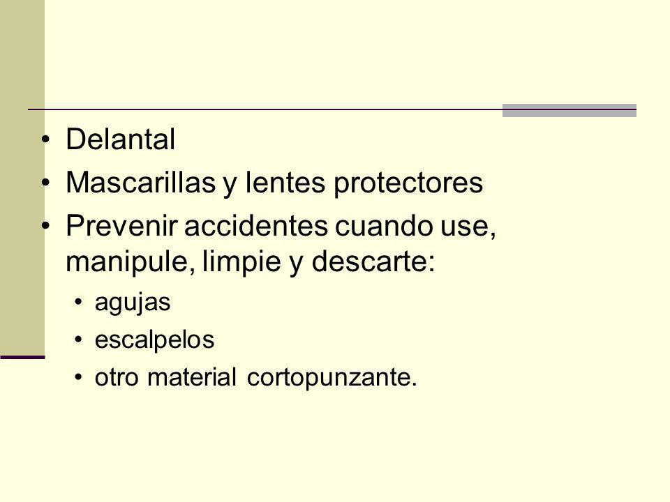 Mascarillas y lentes protectores