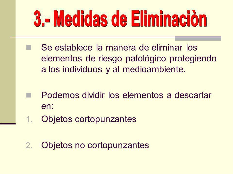 3.- Medidas de Eliminaciòn