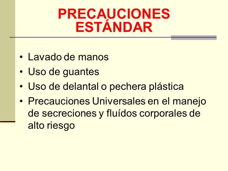 PRECAUCIONES ESTÁNDAR