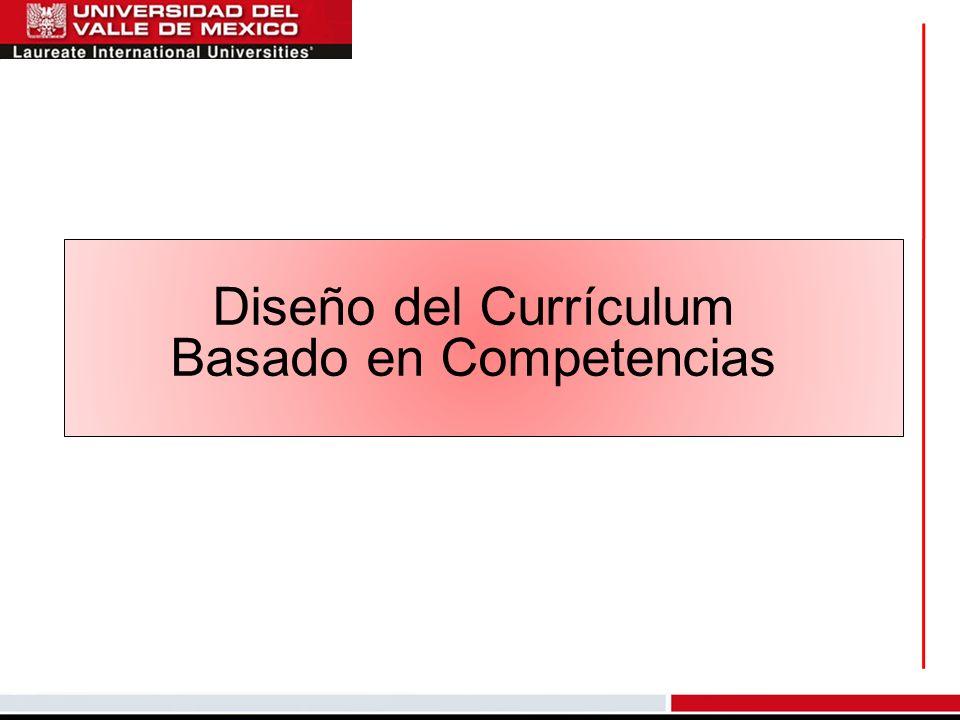 Diseño del Currículum Basado en Competencias