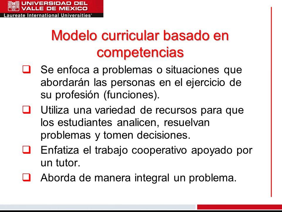 Modelo curricular basado en competencias