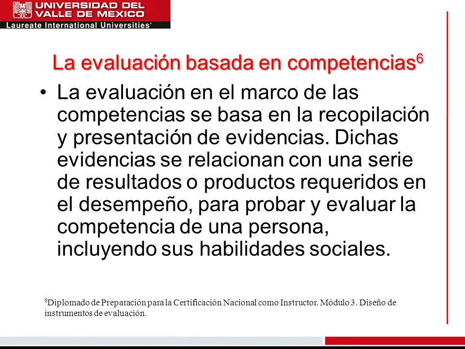 La evaluación basada en competencias6