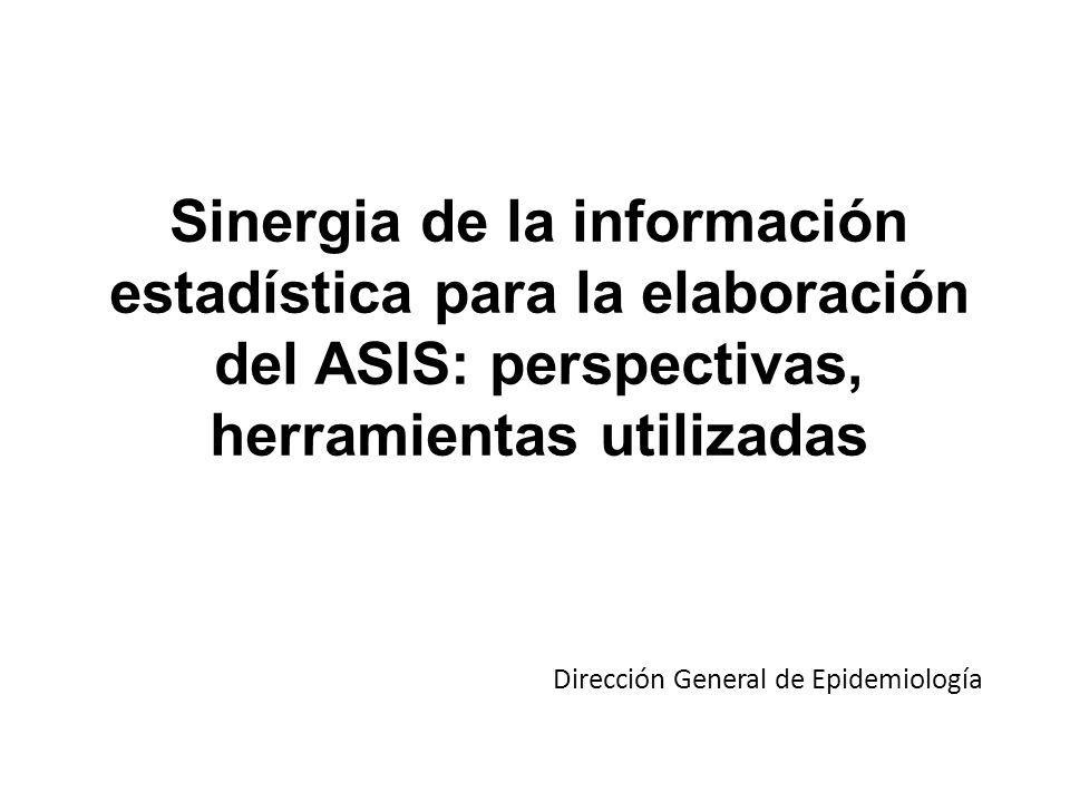 Sinergia de la información estadística para la elaboración del ASIS: perspectivas, herramientas utilizadas