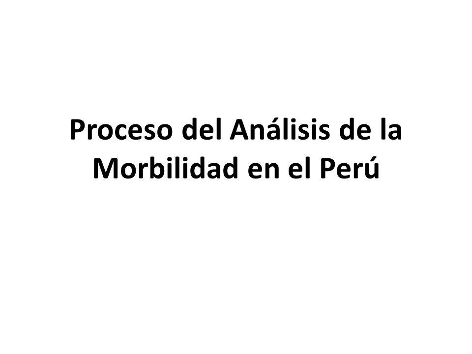 Proceso del Análisis de la Morbilidad en el Perú