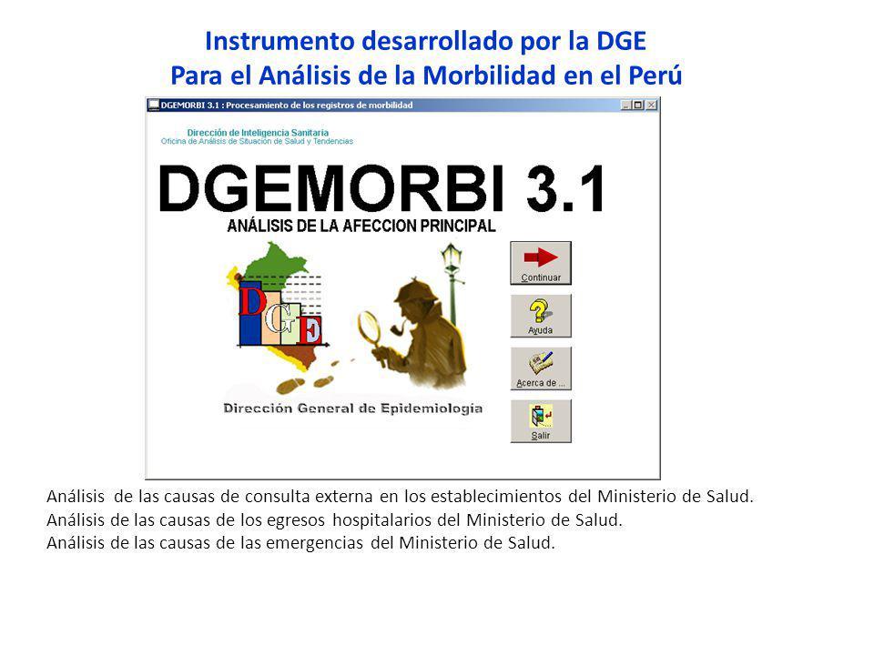 Instrumento desarrollado por la DGE