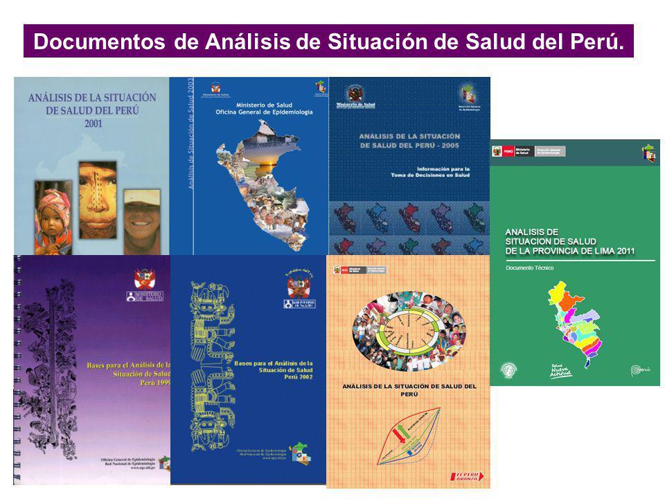 Documentos de Análisis de Situación de Salud del Perú.