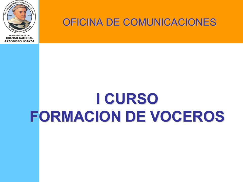 I CURSO FORMACION DE VOCEROS