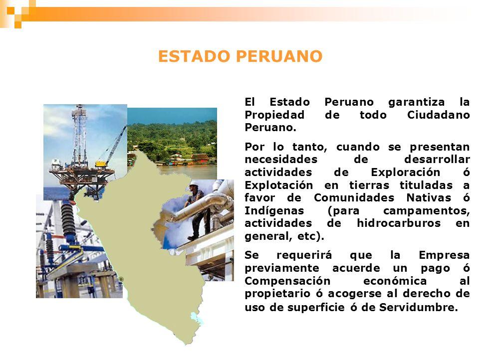 ESTADO PERUANO El Estado Peruano garantiza la Propiedad de todo Ciudadano Peruano.