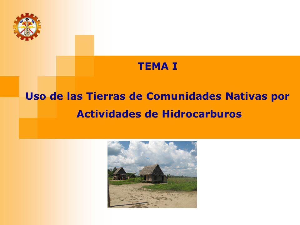Uso de las Tierras de Comunidades Nativas por