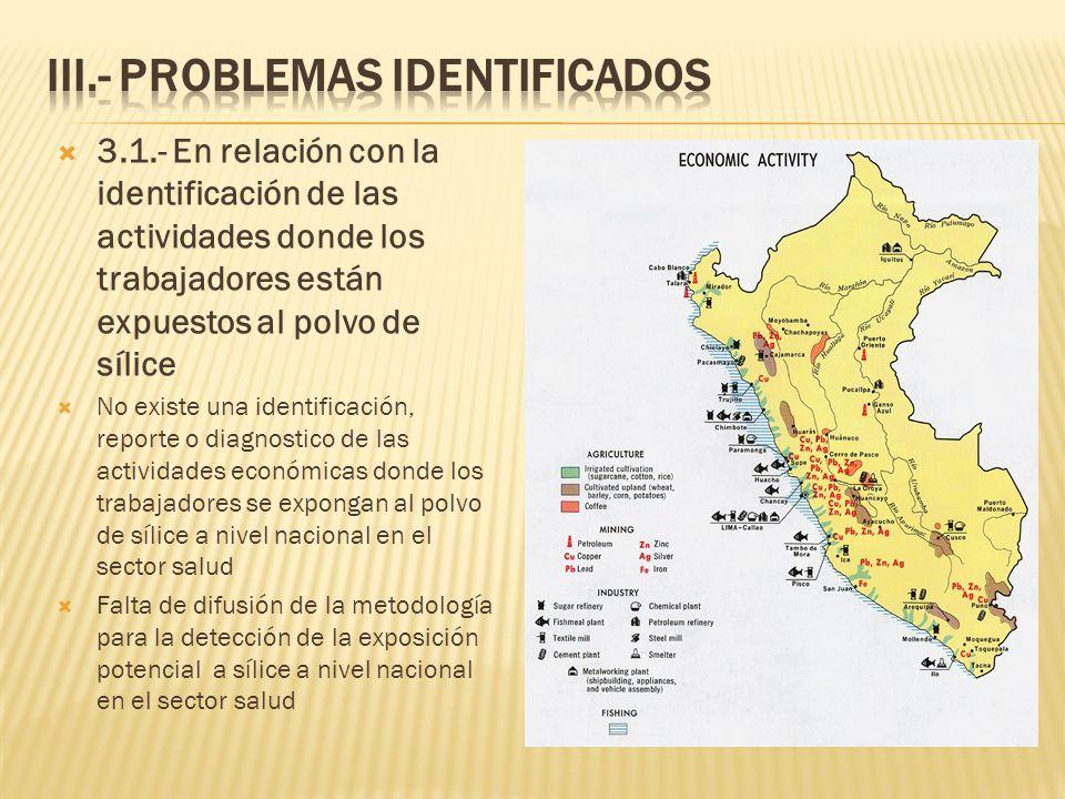 III.- PROBLEMAS IDENTIFICADOS