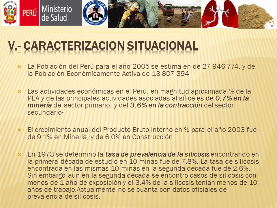 V.- CARACTERIZACION SITUACIONAL