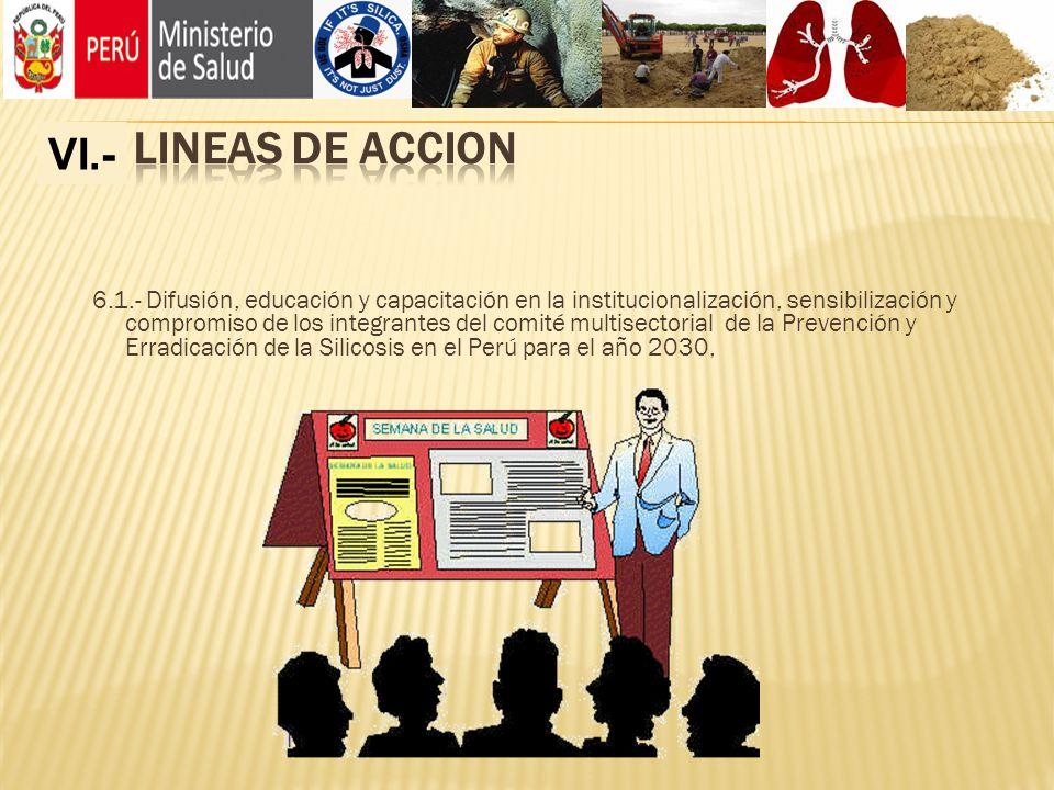 IV.- LINEAS DE ACCION VI.-