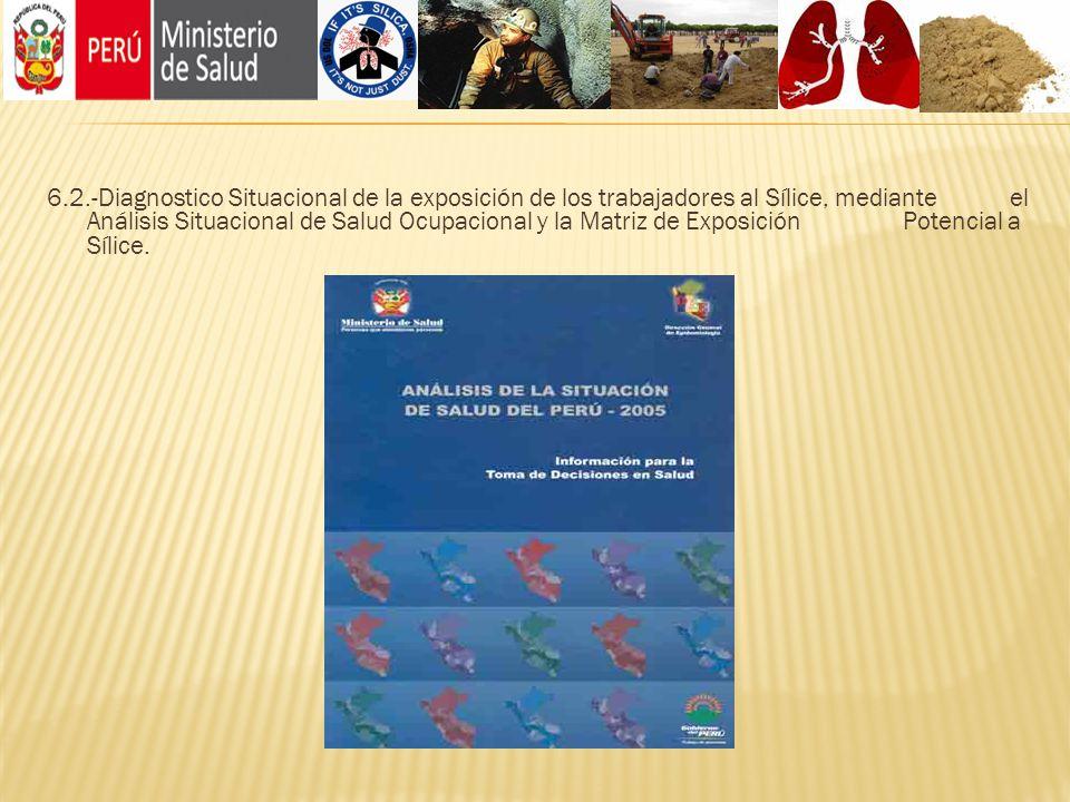 6.2.-Diagnostico Situacional de la exposición de los trabajadores al Sílice, mediante el Análisis Situacional de Salud Ocupacional y la Matriz de Exposición Potencial a Sílice.