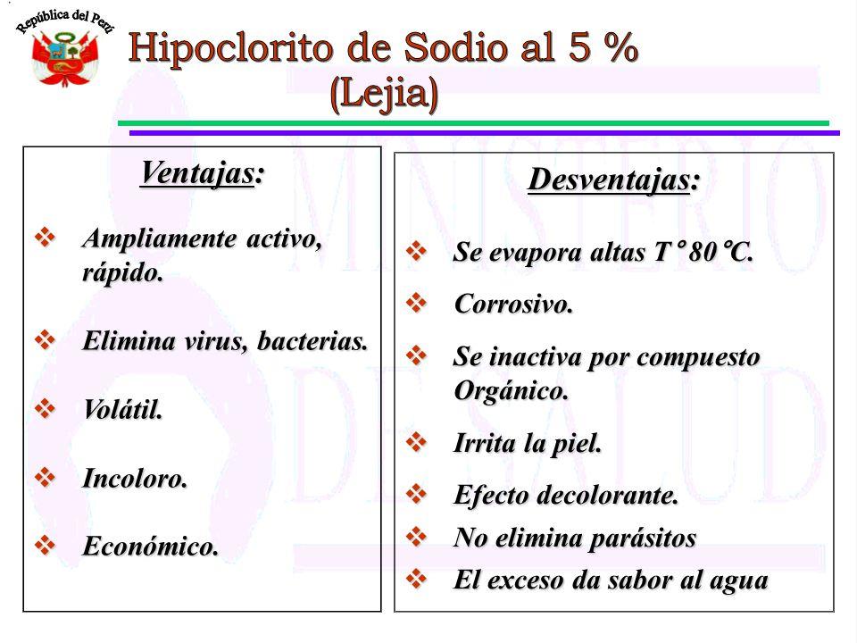 Hipoclorito de Sodio al 5 %