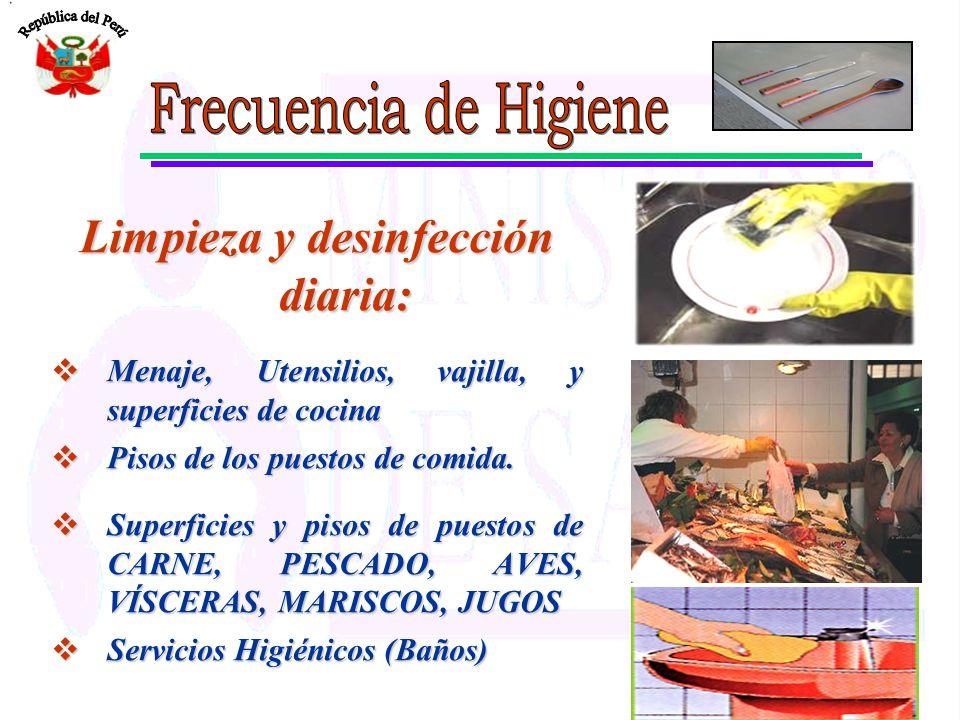 programa de higiene y saneamiento programa de higiene y On limpieza y desinfeccion de equipos y utensilios de cocina