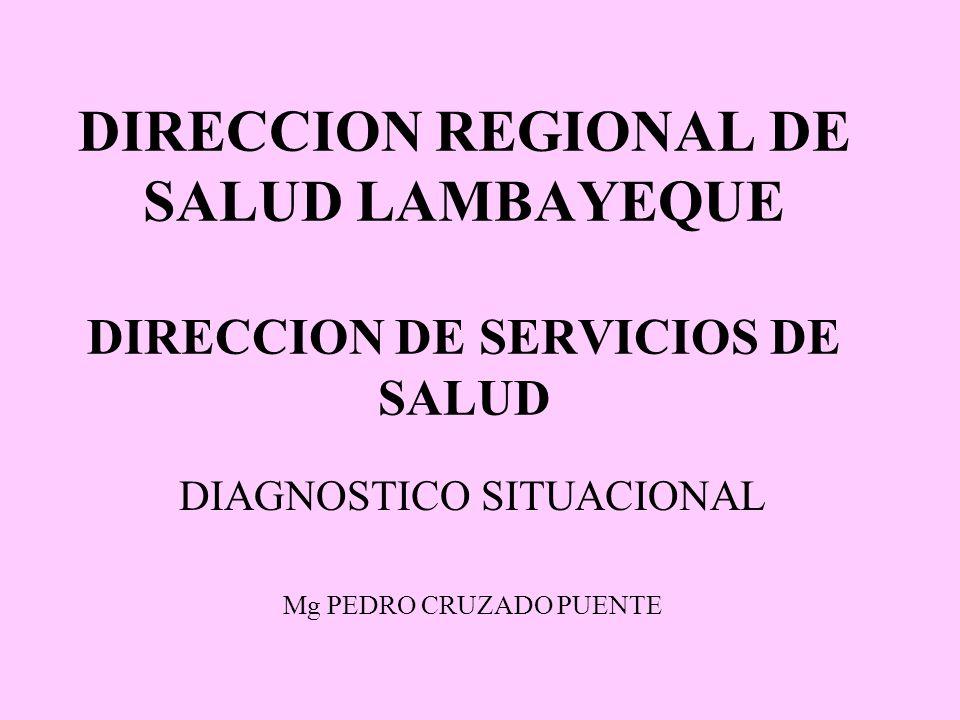 DIRECCION REGIONAL DE SALUD LAMBAYEQUE DIRECCION DE SERVICIOS DE SALUD