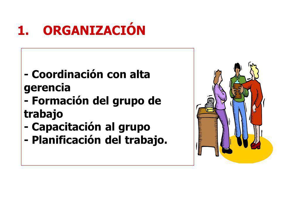 ORGANIZACIÓN - Coordinación con alta gerencia