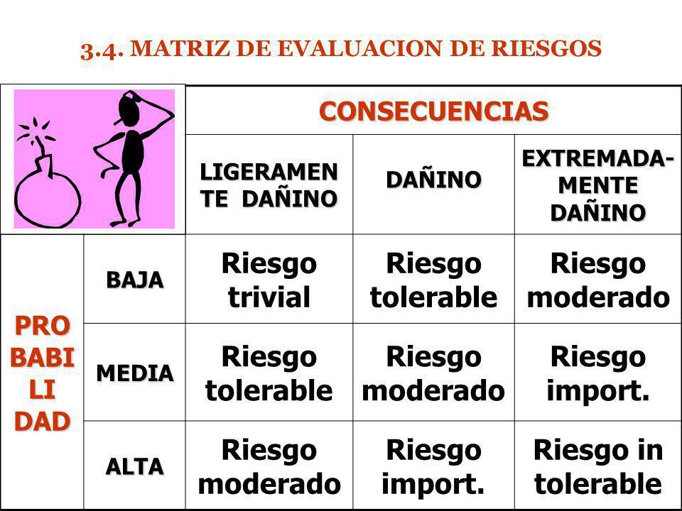 3.4. MATRIZ DE EVALUACION DE RIESGOS