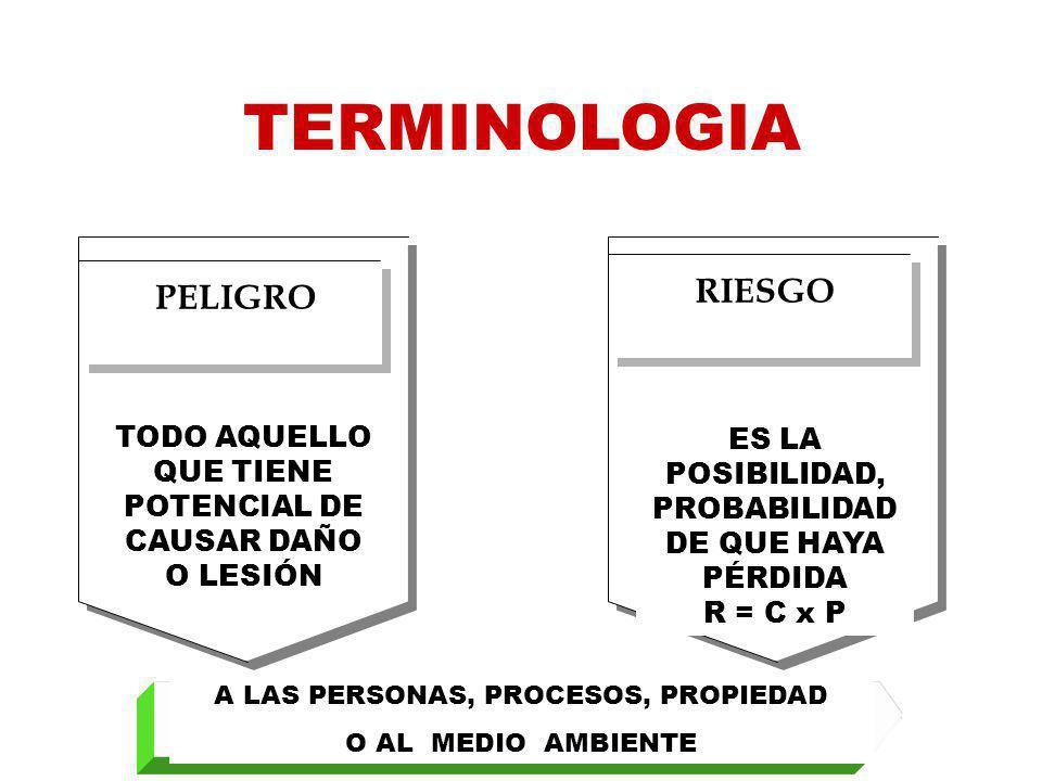 TERMINOLOGIA RIESGO PELIGRO