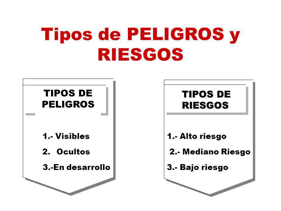 Tipos de PELIGROS y RIESGOS