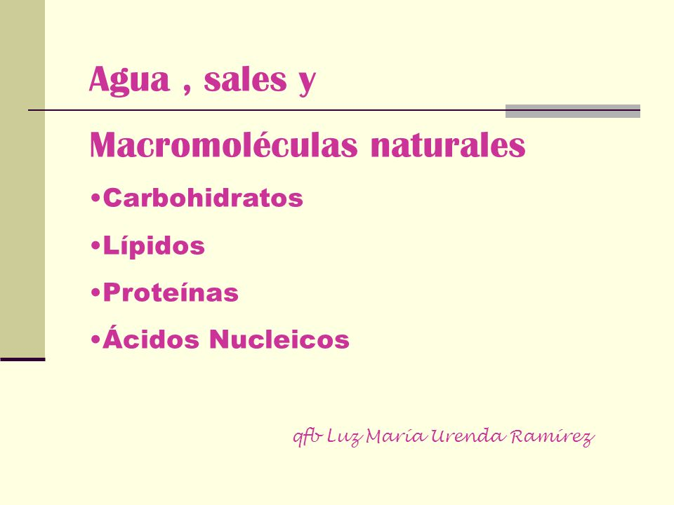 Macromoléculas naturales
