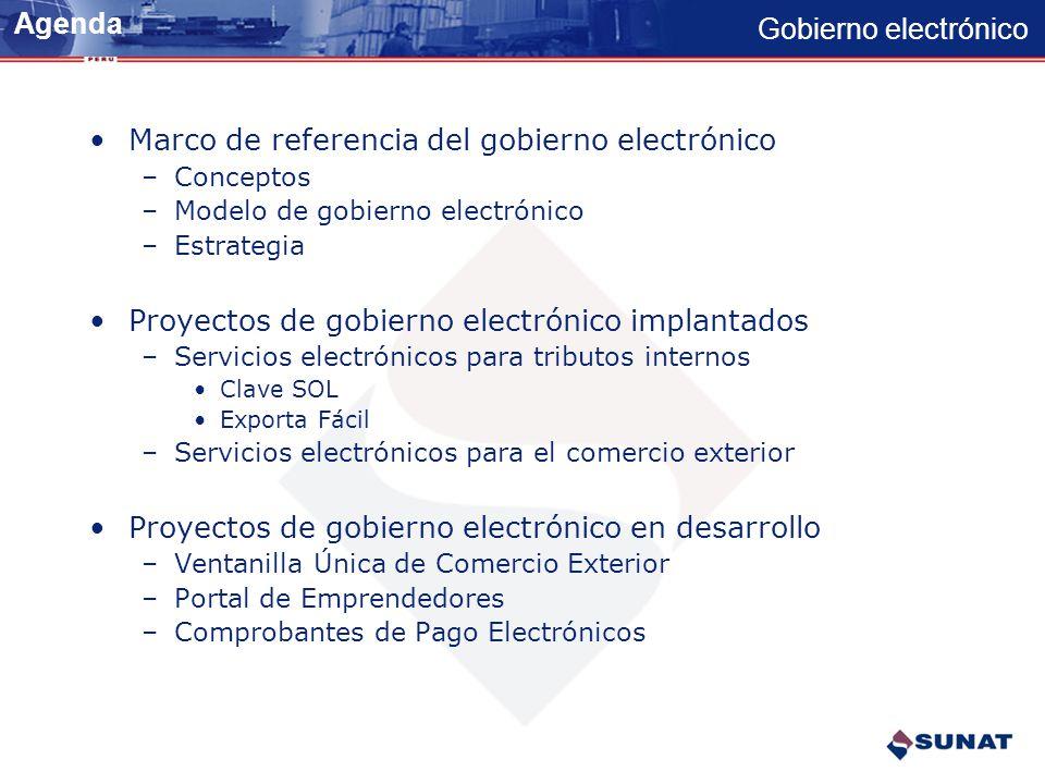 Marco de referencia del gobierno electrónico