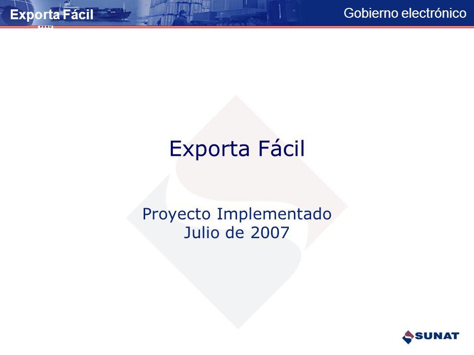 Proyecto Implementado Julio de 2007