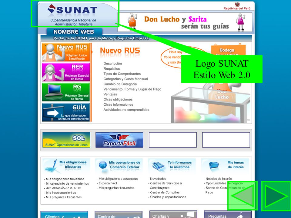 Logo SUNAT Estilo Web 2.0