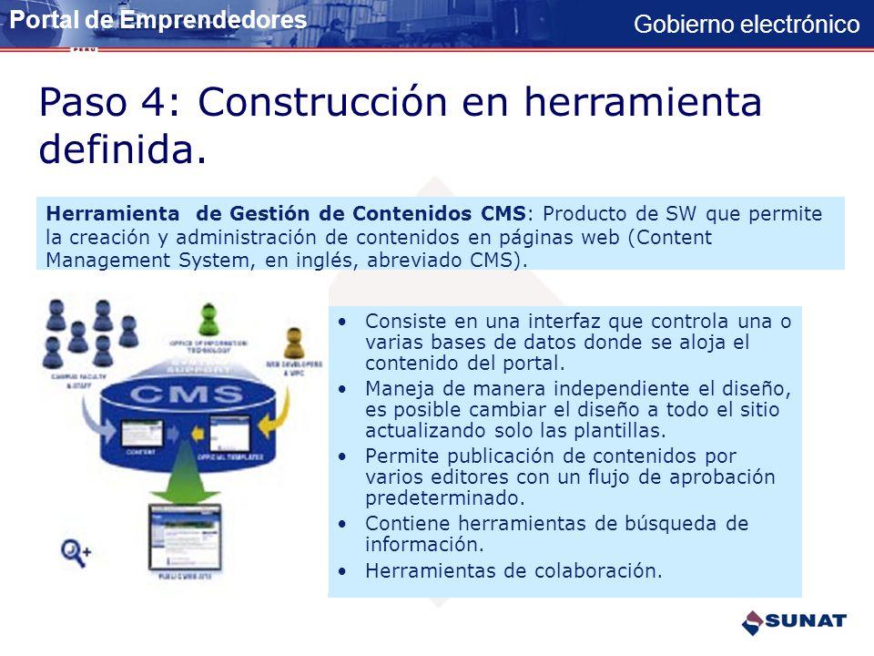 Paso 4: Construcción en herramienta definida.