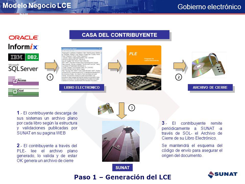Paso 1 – Generación del LCE