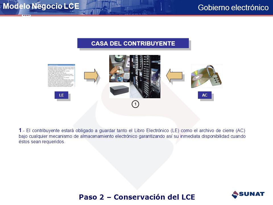 Paso 2 – Conservación del LCE
