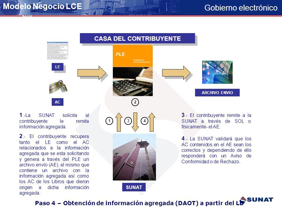 Paso 4 – Obtención de información agregada (DAOT) a partir del LE