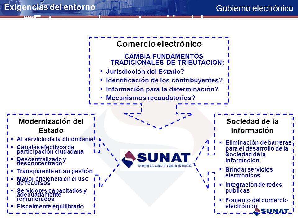 Entorno en la construcción del e-gov.
