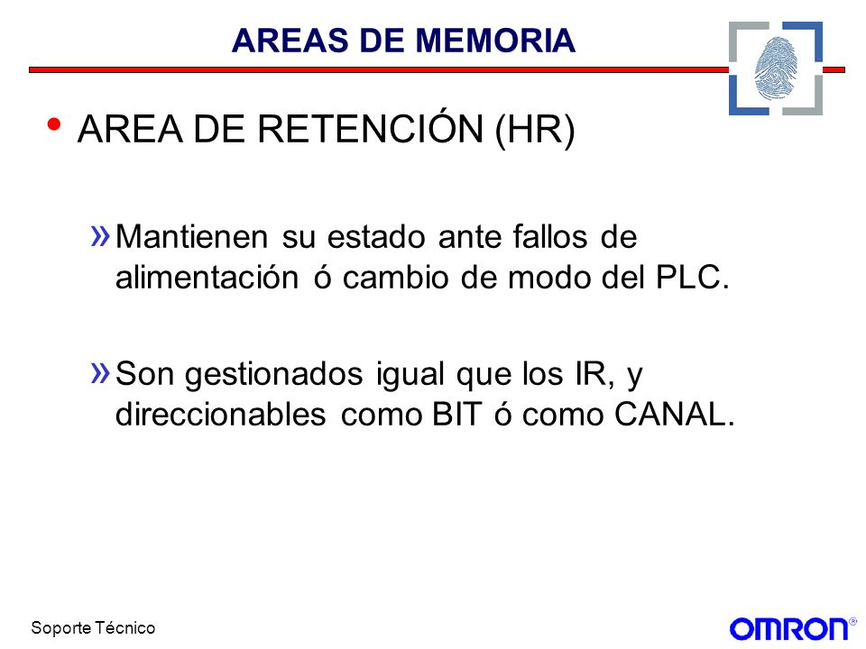 AREA DE RETENCIÓN (HR) AREAS DE MEMORIA