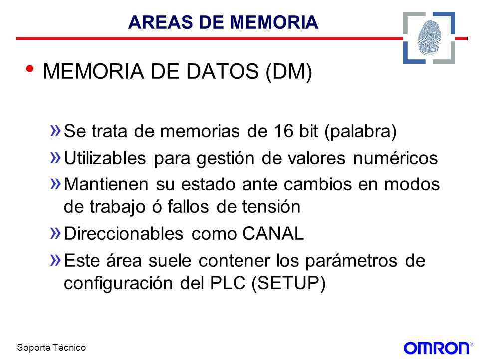 MEMORIA DE DATOS (DM) AREAS DE MEMORIA