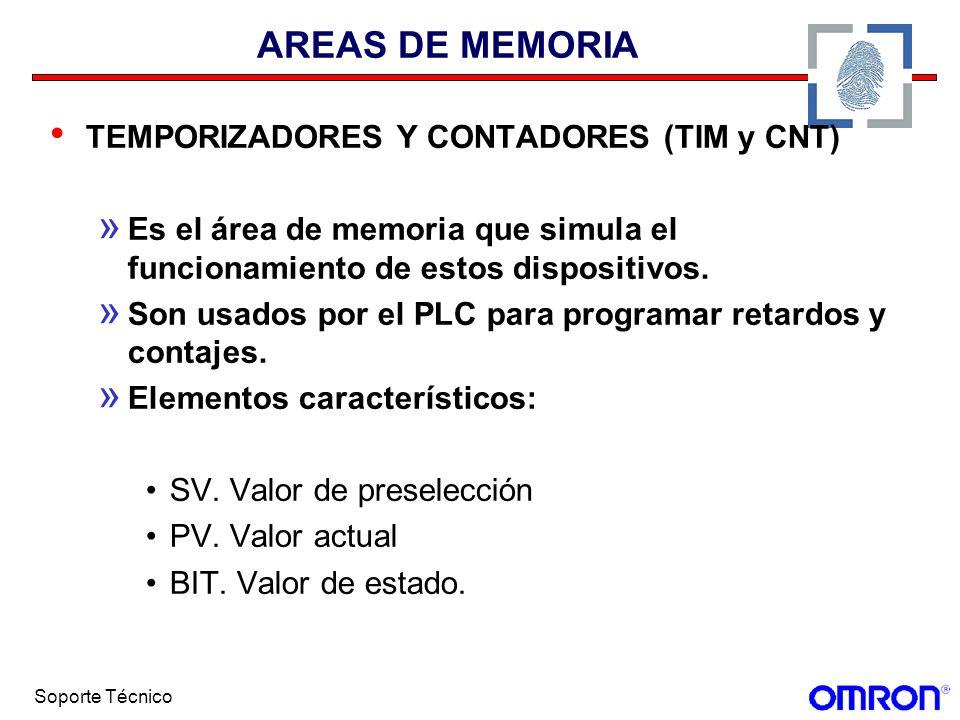 AREAS DE MEMORIA TEMPORIZADORES Y CONTADORES (TIM y CNT)