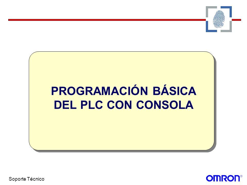 PROGRAMACIÓN BÁSICA DEL PLC CON CONSOLA