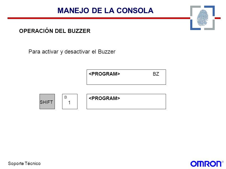 MANEJO DE LA CONSOLA OPERACIÓN DEL BUZZER