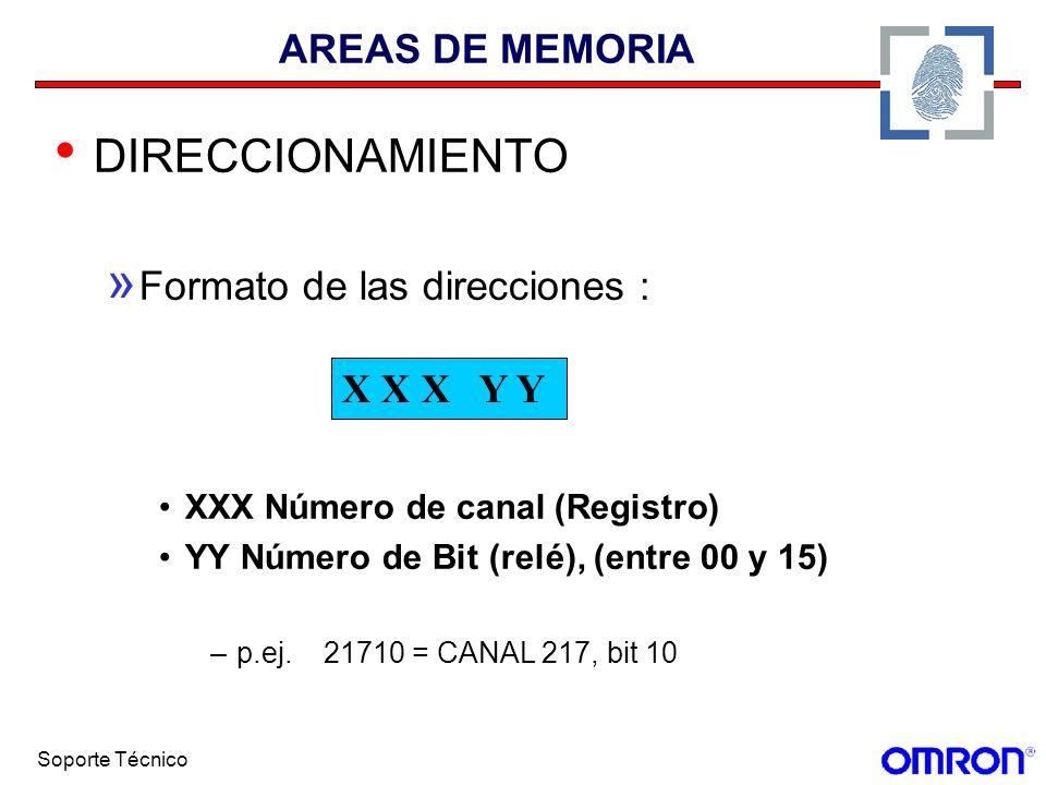 DIRECCIONAMIENTO AREAS DE MEMORIA Formato de las direcciones :