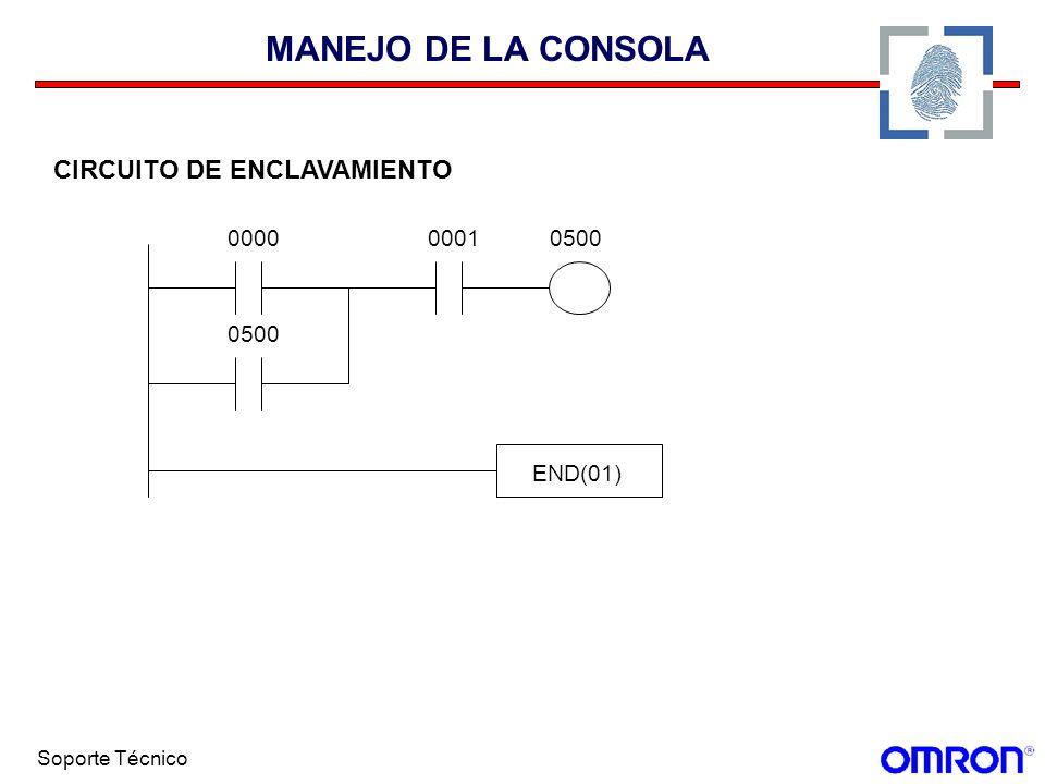 MANEJO DE LA CONSOLA CIRCUITO DE ENCLAVAMIENTO 0001 0000 0500 END(01)