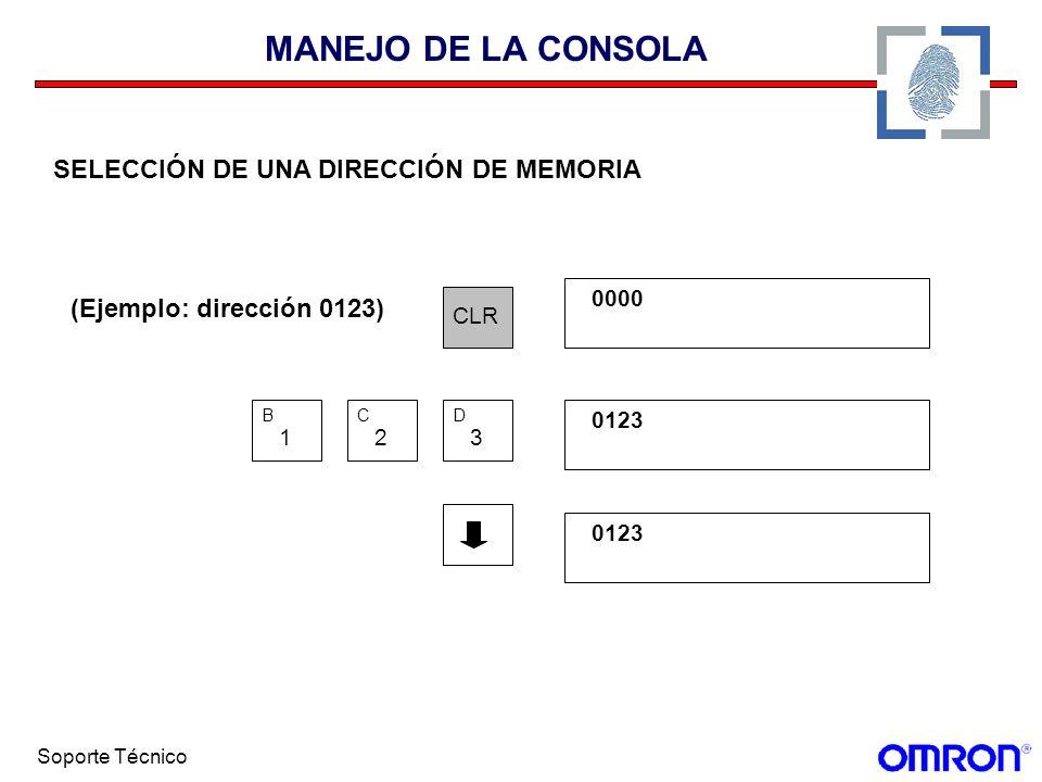 MANEJO DE LA CONSOLA SELECCIÓN DE UNA DIRECCIÓN DE MEMORIA